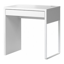 Henrik Preutz - Micke Desk, White - I think this small desk from Ikea is great. It has clean lines and a cable grommet, which makes cord management so much cleaner.