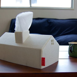 House Tissue Box Cover - This house tissue box cover makes tissues actually look stylish on a coffee table.
