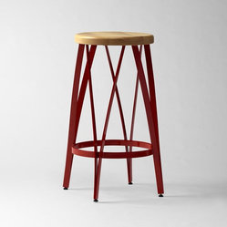 Ribbon Bar Stool + Counter Stool, Red