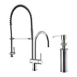 Vigo - VIGO VG02006CHK2 Kitchen Faucet with Soap Dispenser - VIGO finishes resist corrosion and tarnishing, exceeding industry durability standards