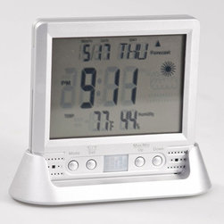Weather Clock Nanny Camera - This attractive home accessory and covert recording device is perfect for mounting almost anywhere. The HD recording is impressive and the LED status lights let the user know when the unit is operating. Motion sensor technology save battery life and a snap shot option captures the subject with excellent photo quality.