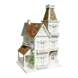 Home Bazaar - The Manor - Turn your backyard into prime avian property with this magnificent manor house. Loads of Victorian charm, from fancy gingerbread details to the shingled roof of red western cedar, will have your feathered friends residing in style and rewarding you with song.