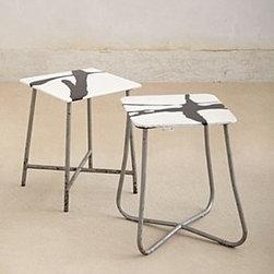 "Anthropologie - Resin Stool - One of a kindResin, wood, steel18.75""H, 13.27""WHandmade in Netherlands"