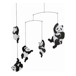 Flensted Mobiles Panda Mobile - Entertain baby with these six panda figures on this whimsical mobile. Long after your child outgrows the crib, kids will still love gazing up at this fun mobile.