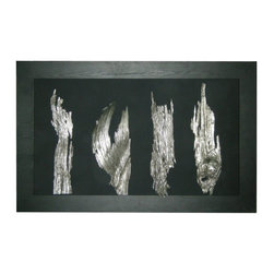 Silverwood - For an elegant and unique piece of artwork for your home, try this Silverwood Shadow Box. Neatly framed with a wooden trim, these pieces of distinctly cut wood have been overlaid with silver to create this unique shadow box. Hang it in your office, your living room or even your bathroom for a modern look. Consider pairing it with Modani's Futoria Metal Bench for a complete look.
