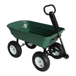 Sandusky Lee - Sandusky Lee Heavy Duty Steel Dump Wagon Multicolor - CW4622 - Shop for Carts and Wheelbarrows from Hayneedle.com! Yard work and outside home repair jobs just got a whole lot easier! With its four ultra thick and smooth rolling pneumatic wheels the Sandusky Heavy Duty Steel Dump Wagon leaves traditional wheelbarrows in the dust. This baby has plenty of room inside features an amazing 1 000-pound load capacity and has a large easy-grip handle that makes it a breeze to use.About Sandusky Cabinets and Lee MetalSandusky Cabinets and Lee Metal have been major suppliers of steel storage solutions for nearly 70 years. Their diverse product line is tailored to the specific needs of office commercial industrial and educational markets while ensuring low logistics costs and fast delivery times which means the products are handled a minimal number of times in transit.Please note this product does not ship to Pennsylvania.