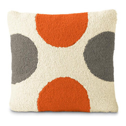 Orange & Gray Spots - Polka dots in the perfect gray and orange colors! I don't think I could find a better pillow to coordinate with the