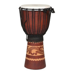 X8 Drums - X8 Drums Kalimantan Djembe Drum - X8-DJ-KALI-S - Shop for Toy Instruments from Hayneedle.com! The X8 Drums Kalimantan Djembe Drum is a beautiful example of an African-style rope-tuned drum. This djembe is crafted from a solid piece of Mahogany wood and is adorned with a detailed hand-carved Kalimanta Tattoo design of a griffin. Your child's drum skills will truly soar with this one.About X8 DrumsX8 Drums truly walks to the beat of their own drum. This family-owned company is committed to providing the best selection of high-quality musical instruments with an emphasis on world music percussion instruments. X8 Drums has certainly helped champion ethnic hand drums in the digital age thanks to its founders - a New York City rocker and an internet sage.