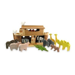 Everearth - EvereEarth Giant Noah's Ark - This sturdy wooden Giant Noah's Ark set comes complete with 22 animals, Noah, and his wife. The animals are large and chunky so they are easy for little hands to hold.