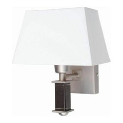 Illumine - Illumine Designer Collection 1-Light Satin Steel Wall Sconce with White Fabric S - Shop for Lighting & Fans at The Home Depot. This 1-Light Wall Sconce, part of the Designer Collection, offers a trendy solution that is sure to satisfy all your-Lighting needs. This wall sconce combines unique styling and excellent quality to create the perfect blend that will exceed your expectations. Combining a steel finish with mosaic design shell shade, this functional yet stylish fixture will add a renewing element in various decor settings.