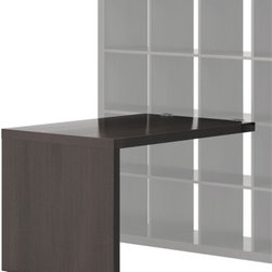 IKEA of Sweden - EXPEDIT Desk - Desk, black-brown