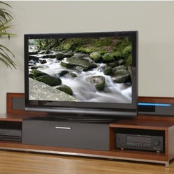 """Plateau - Valencia Series 79"""" TV Stand - The Valencia Series 79 is designed to stand out from the rest. This unit is constructed with the finest materials, offering functional dimensions for your audio / visual components. DetailedFeatures include back panels that offer ample ventilation and cable management with precision quality hinges. We've also incorporated a back-light for added ambiance. The middle section is 33'' [ 841mm ] wide, to accommodate most center-channels. The unique and quality precision construction makes this Series the perfect compliment to any room setting. Features: -Ventilated cable management.-Back light for added ambiance.-Media storage drawers with premium hinges.-Fine hardwood construction.-Valencia collection.-Distressed: No.-Collection: Valencia.Dimensions: -Overall Product Weight: 240 lbs."""