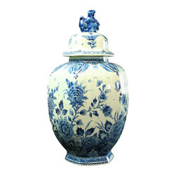 Royal Delft Blue Holland - Consigned Vintage Royal Delft Hand-Painted Ginger Jar - Product Details