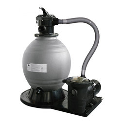 Blue Wave - Blue Wave 18 Inch Above Ground Ovale Ground Sand Fil Sys 1 Hp - Sandman; Deluxe Above-Ground Sand Filter System Same Quality As Hayward Pro Series, Waterway Clearwater & Pentair/Sta-Rite Cristal Flo Ii This High Performance Sand Filter System Will Keep Your Pool Crystal Clear And Deliver Years Of Trouble Free Operation. Sandman; Rugged Filter Tank Is Constructed Of Durable Polyethylene That Withstands Mother Natures Worst And Is Corrosion Proof. Precisely Engineered Laterals Inside The Filter Provide An Even Flow Through The Sand Bed Ensure Maximum Filtration And A Shimmering Clean Pool. The Top Mount Multi-Port Provides For Easy Use And Quick Backwashing. Sandman; Filter Systems Also Feature: Easy Assembly And Efficient Performance; Pump And Filter Are Perfectly Engineered To Provide Optimum Flow Rates That Promotes Clean Water Quality; High Efficiency Pump Lowers System Cost And Ensures Years Of Quiet Operation; Extra Large Hair And Lint Pot For Easy Cleaning; Ul Listed; 1-Year Warranty; Up To 33% Lower Cost Than Hayward, Sta-Rite Or Pentair. System Includes: - Base - Pump With Hair & Lint Pot - Filter Tank - 6-Position Multi Port Valve - 3; Tank Connection Hose - Clamps, Fittings, Gauge And Connection Hoses