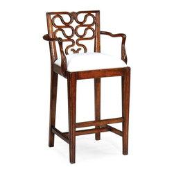 Jonathan Charles - New Jonathan Charles Counter Chair Walnut - Product Details
