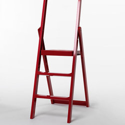 Karl Malmvall Stepladder - This simple step ladder is an example of what Scandinavians do so well: elevate a seemingly mundane item to a true thing of beauty. The belief that the functional should also be beautiful is what powers their eye for design and incessant and effortless pursuit of style. The red lacquer step ladder would be perfect tucked along an empty wall or in a little nook of a kitchen. I know it would quickly become my most used kitchen tool!
