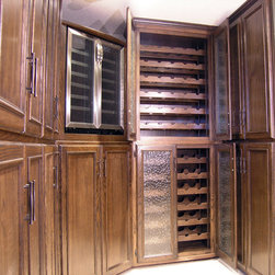 Custom Built Wine Cellar and Cabinets -