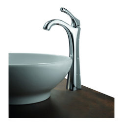Delta - Addison Single Handle Centerset Bathroom Faucet with Riser - Delta 792-DST Addison Single Handle Centerset Bathroom Faucet with Riser and Diamond Seal Technology in Chrome.