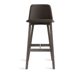 Blu Dot - Blu Dot Chip Barstool, Smoke / Gunmteal - No dash of flash needed. Pleasing comfort, timeless form, and a hardy build makes Chip a poised seating fix for any space.  Available in chair, barstool and counterstool.