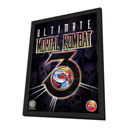 Ultimate Mortal Kombat 3 11 x 17 Movie Poster - Style A - in Deluxe Wood Frame - Ultimate Mortal Kombat 3 11 x 17 Movie Poster - Style A - in Deluxe Wood Frame.  Amazing movie poster, comes ready to hang, 11 x 17 inches poster size, and 13 x 19 inches in total size framed. Cast: