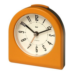 Bai Design Cyber Orange Designer Pick-Me-Up Alarm Clock - If you hate to hear the sound of your alarm in the morning, hopefully this cute orange clock will make it a little easier to rise and shine.