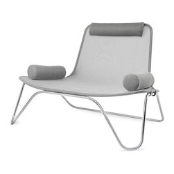 "Blu Dot - ""Blu Dot Dwell Lounge Chair by Ralph Rapson, Silver/Stainless"" - Brilliantly chic, this award-winning chair was designed by renowned architect Ralph Rapson. Its mesh body and sleek stainless steel frame makes this exquisitely modern seating solution a standout piece in your living area."