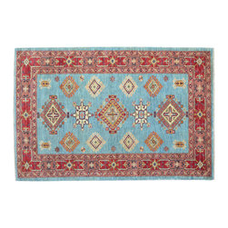 1800-Get-A-Rug - Oriental Rug Kazak Hand Knotted Rug Sh11886 - About Tribal & Geometric