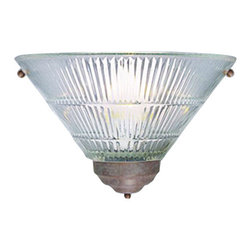 """Volume Lighting - Volume Lighting V1809 8"""" Height Wall Sconce - 8"""" Height Wall Sconce with One Light and Clear Ribbed GlassDelightful and charming, this 1 light wall sconce features delicate clear ribbed glass in a refined cone shade.Features:"""