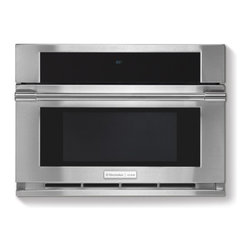 """Electrolux Icon - Professional E30MO75HPS 30"""" Built-In Drop-Down Door Microwave Oven with 1.5 cu f - The Electrolux built-in drop-down microwave oven with 15 cu ft and 900 watts features sensor and convection cooking Wave-Touch electronic controls and 11 power levels Air heated behind the interior is circulated around your food for consistent even r..."""