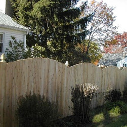 6' Solid Arched - This 6' tall solid board fence features a domed top and is built for maximum privacy.