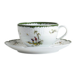 Raynaud - Si-Kiang Porcelain Tea Cup & Saucer - Inspired by the Rococo painter Jean Pillement, the striking dinnerware depicts Chinese country scenes from the eighteenth century. Add this joyfully nostalgic piece to your elegant table.
