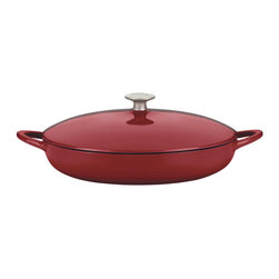 Dansk - Mario Batali by Dansk 4-quart Chianti Braiser - This Mario Batali by Dansk braiser is perfect for searing quickly with the lid off,then cooking slowly on the stovetop or in the oven. The self-basting lid retains natural juices.