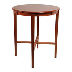 "Boraam - Boraam 42"" Round Wood Top Pub Table in ES Light Cherry - Boraam - Pub Tables - 70564 - Boraam's high quality products are well styled and priced right. Benefitting from years of experience in the industry Boraam knows what you look for in quality furniture and takes pride in getting orders out as diligently as possible. Feel confident that Boraam will take your living space to another level."
