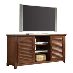 Hooker Furniture - Hooker Furniture Wendover 64 Inch Open Entertainment Console - Hooker Furniture - TV Stands - 103756601 - Wendover's style is relaxed and casual but it works hard to make it easy for you to find a solution for virtually any home office or home entertainment need.