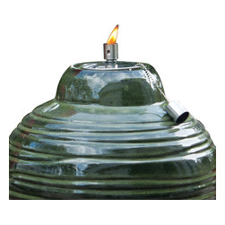 "Smart Solar - Sari Ceramic Fire Pot - 12"" H - Amazon Jungle - The Sari ceramic fire pot is an outdoor accent piece perfect for lining walkways or using as a centerpiece on tables. Create warmth and ambiance with this hand crafted fire pot with a unique Amazon Jungle green glazed finish. It burns for approximately one hour with clean burning gel fuel that is sold separately. Includes flame snuffer.Hand crafted 12""H ceramic fire pot. Outdoor accent piece to line walkways or use as centerpiece. Includes flame snuffer. Finished with a Amazon Jungle green glaze. Aluminum cylinder. Burns for approximately 1 hour using clean burning gel fuel (sold separately). Can be used with citronella gel fuel to keep mosquitoes away. One year limited warranty."