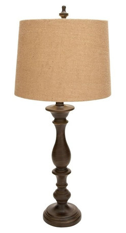 Benzara - Beautifully designed Table Lamp with Long Lasting Shelf Life - Featuring a brown lamp shade and wooden stand and base, this table lamp looks classy and modish. You can place this lamp in your living area to create a cozy ambience and make the space inviting. This table lamp will always set the right mood. Use this table lamp to create a lasting and stylish impression in your personal space. This eye catching piece of decorative accessory has authentic electrical fittings to make it functional. This table lamp can be used as an art decor item as well as for its utility. Place it in the corner to add a lot of oomph to your setting. With this stylish lamp in the house you can create a new setting every day. Made out of resin, this table lamp ensures long lasting use.