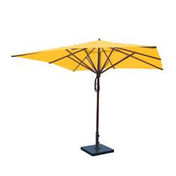 Greencorner - 10'x10' Mahogany Umbrella, Sunflower Yellow - 10'x10' Square