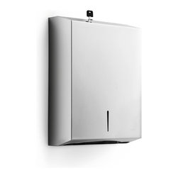WS Bath Collections - Otel Paper Towel Holder - Otel By WS Bath Collections Paper Towel Dispenser 11.0 x 14.4 x 3.9 in Stainless Steel, Wall-Mount Installation, Made in Italy