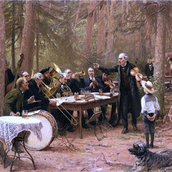 """Wilhelm-Carl-Zimmer The Orchestra, Biergarten   Print - 16"""" x 24"""" Wilhelm-Carl-August Zimmer The Orchestra, Biergarten premium archival print reproduced to meet museum quality standards. Our museum quality archival prints are produced using high-precision print technology for a more accurate reproduction printed on high quality, heavyweight matte presentation paper with fade-resistant, archival inks. Our progressive business model allows us to offer works of art to you at the best wholesale pricing, significantly less than art gallery prices, affordable to all. This line of artwork is produced with extra white border space (if you choose to have it framed, for your framer to work with to frame properly or utilize a larger mat and/or frame).  We present a comprehensive collection of exceptional art reproductions byWilhelm-Carl-August Zimmer."""