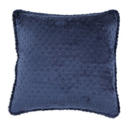 Chooty & Co. - Chooty and Co Dots Self Corded D-Fiber Pillow - Navy Multicolor - CS17C2121 - Shop for Pillows from Hayneedle.com! About Chooty & Co.A lifelong dream of running a textile manufacturing business came to life in 2009 for Connie Garrett of Chooty & Co. This achievement was kicked off in September of '09 with the purchase of Blanket Barons well known for their imported soft as mink baby blankets and equally alluring adult coverlets. Chooty's busy manufacturing facility located in Council Bluffs Iowa utilizes a talented team to offer the blankets in many new fashion-forward patterns and solids. They've also added hundreds of Made in the USA textile products including accent pillows table linens shower curtains duvet sets window curtains and pet beds. Chooty & Co. operates on one simple principle: What is best for our customer is also best for our company.