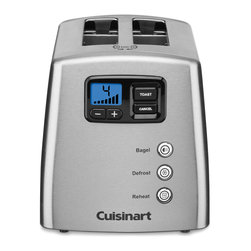 Cuisinart - Cuisinart Stainless Steel Two-slice Toaster - Toast a variety of food in this two-slice toaster from Cuisinart. A stainless steel construction and nine settings finish this deluxe toaster.