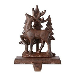 MarthaHoliday Into the Woods Reindeer Christmas Stocking Holder - I wince when I have to put nails in my mantel to hang Christmas stockings. These sturdy stocking holders would eliminate the need for nails and would look so pretty surrounded by Christmas greenery.