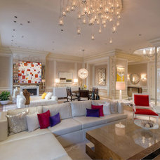 Contemporary Family Room by The Studios of Melissa Rodriguez
