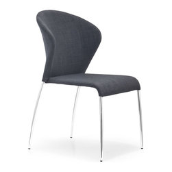 Zuo Modern - Zuo Modern Oulu Side Chair, Graphite Fabric, Set of 2 - Side Chair Graphite Fabric belongs to Oulu Collection by Zuo Modern Side Chair (2)