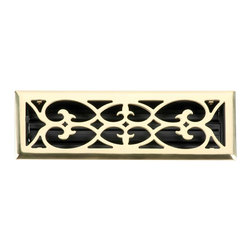 Renovators Supply - Heat Registers Brass Plated Steel Heat Register - Heat Register. Control & SAVE on energy bills with registers that let you control every room��_��__��_s airflow with their infinitely adjustable louver assembly (damper box). Crafted of brass plate over 3mm thick steel core these registers mount to floors or ceilings, damper box cannot be locked in place. Polished and lacquered to prevent tarnishing their traditional scroll design and durable brass plated steel are of superior quality workmanship. Mounting hardware included.