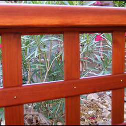 Handmade Custom Lattice - I make my own lattice. It's very smooth with rounded edges with Brass Escutcheon Pins for a nice look.