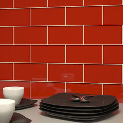 "Subway Tile In Red Blossom 3 X 6 - Glass Mosaic is a handmade product and therefore can vary in color.  Product weight: 0.5 lbs. Product height: 3"". Product width: 6"". Product depth: 0.315"". Square feet per carton: 4. Collection name: Subway. Material type: Glass. Recommended grout width: 0.125"". Surface finish: Glossy. Pieces per carton: 32. Shipping weight per carton: 16 lbs. Tile Use: Walls/Backsplashes. Color: Red Blossom. Shade Variation: V1, Uniform"