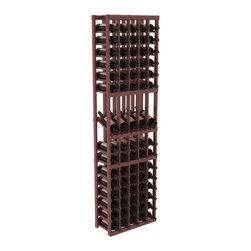Wine Racks America - 5 Column Display Row Wine Cellar Kit in Redwood, Cherry + Satin Finish - Make your best vintage the focal point of your wine cellar. Four of your best bottles are presented at 30° angles on a high-reveal display. Our wine cellar kits are constructed to industry-leading standards. Youll be satisfied with the quality. We guarantee it.