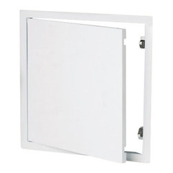 "Best Access Doors - Access Panel - Steel Sheet with Touch Latch, Galvanized Steel, 24""x24"" - 24"" x 24"" Access Panel - Steel Sheet with touch latch BA-B2 - with touch latch The access panel solid outer frame and door consists of 20 ga. galvanized steel. The panel is white powder coated and comes with two concealed touch latch locks. The access panel rounded-off profile ensures a smooth transition to almost any surface. The four riveted wall anchors ensure a safe installation in walls or ceilings. The door is fully detachable and suitable for left-hand or right-hand opening. Capabilities Sheet steel panels can be mounted in walls or ceilings.http: www.bestaccessdoors.com content BA-B2.pdf (BA-B2 Special advantagesFast deliveryEconomical solutionQuick and easy installationSuperior engineering and innovative design Customized solutions Customized sizes can be produced in every dimension upon request. http: www.bestaccessdoors.com custom-size-access-doors (Request a Quote)"