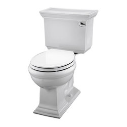 KOHLER - KOHLER K-3933-RA-0 Memoirs Stately Comfort Height 1.28 GPF Toilet - KOHLER K-3933-RA-0 Memoirs stately Comfort Height 1.28 GPF toilet with Class Five flush system in White